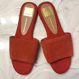 Dolce Vita Size 9 Red Suede Summer Sandals